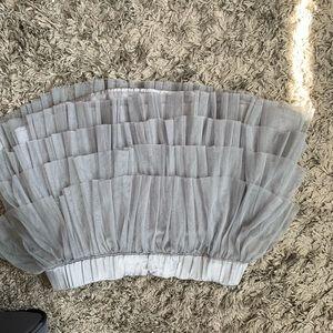 H&M Skirts - Gray ruffled H&M mini skirt